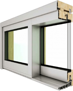 Wood Aluminium Sliding window